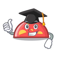Graduation semicircle character cartoon style vector