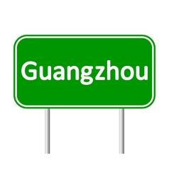 Guangzhou road sign vector