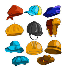 hat icon collection vector image