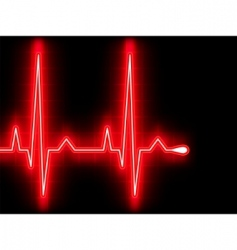 Heart beat EKG vector