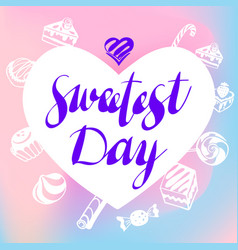 heart sweetest day logo simple style vector image