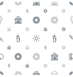 Heat icons pattern seamless white background vector