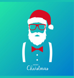 Hipster man wearing santa claus suit vector