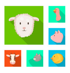 Isolated object agriculture and breeding icon vector