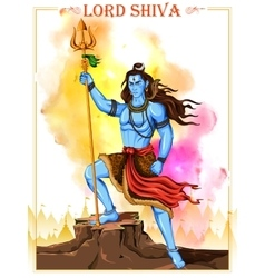 Lord shiva indian god of hindu vector