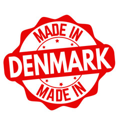 made in denmark sign or stamp vector image