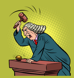 mantle judge adjudicates in courtroom vector image