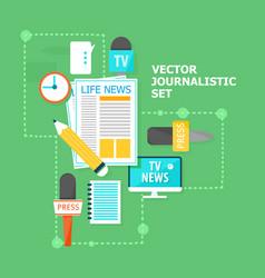 Mass media flat concept vector