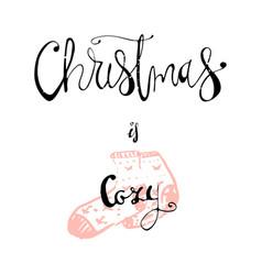 merry christmas hand drawn vector image