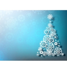 Paper christmas tree on blue background eps 10 vector