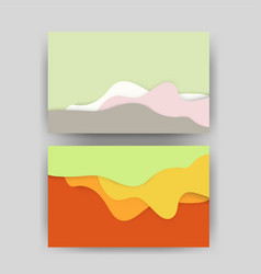 Paper cut background abstract realistic papercut vector