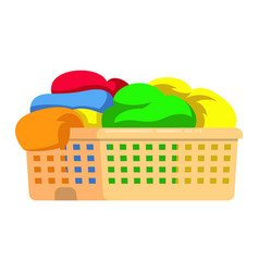 plastic laundry basket washing dirty clothes wash vector image
