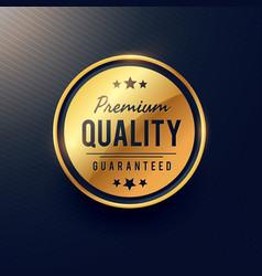 Premium quality label and badge design in golden vector