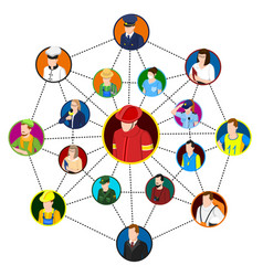Professional networking site concept vector