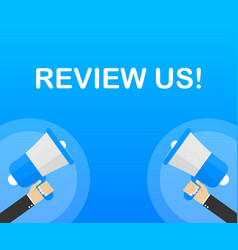 review us user rating concept review and rate us vector image