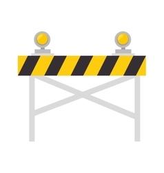 Road warning barrier vector