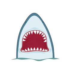 Shark jaws vector