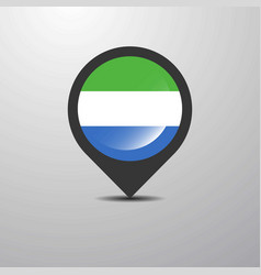 sierra leone map pin vector image