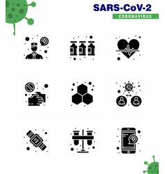 simple set covid-19 protection blue 25 icon vector image