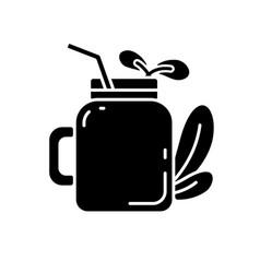 Smoothie black glyph icon vector