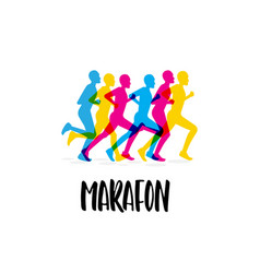 sporting event marathon vector image