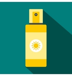 Spray tan icon flat style vector