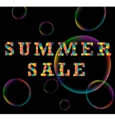 Summer sale colorful triangle poster vector image