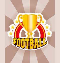 Superbowl sport poster with trophy cup frame vector