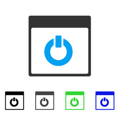 Switch on calendar page flat icon vector