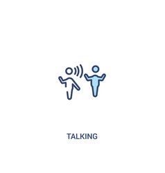 Talking concept 2 colored icon simple line vector