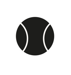 Tennis ball icon in trendy flat style isolated on vector