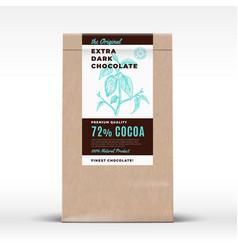 The original extra dark chocolate craft paper bag vector
