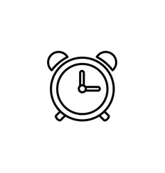 web line icon alarm clock black on white vector image