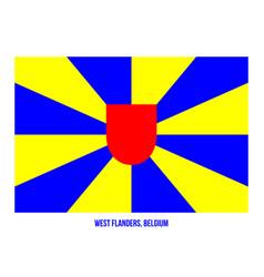West flanders flag on white background provinces vector