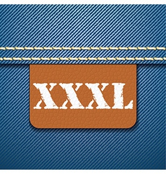 XXXL size clothing label vector image