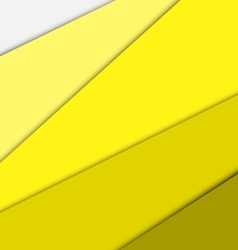 Yellow overlap layer paper material design vector
