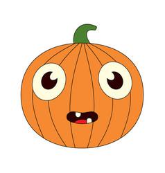 A bored pumpkin vector