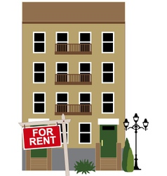 Apartment for rent vector image vector image