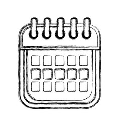figure calendar date remember business events vector image