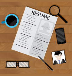 preparing for interview vector image
