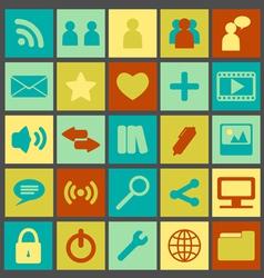 Simple Retro Media Icons vector image