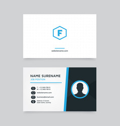 creative business card design with profile icon vector image vector image