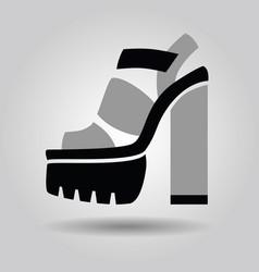 single women platform solid high heel shoe icon vector image