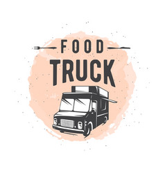 street food truck graphic vector image