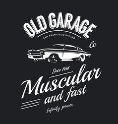 vintage muscle car logo vector image