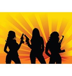 angels gun vector image vector image