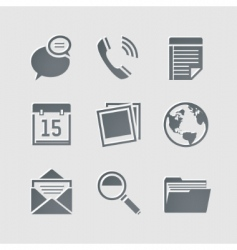 business pictogram vector image