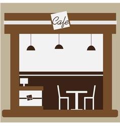 Cafe and shop facade vector image vector image