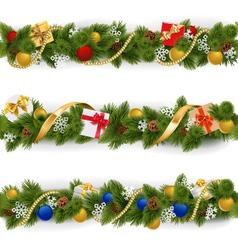 Christmas Border Set 5 vector image vector image