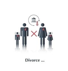 Divorce vector image